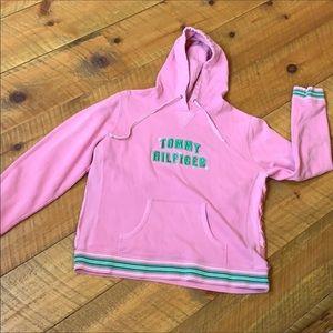 Tommy Hilfiger pink hoodie sweatshirt XL